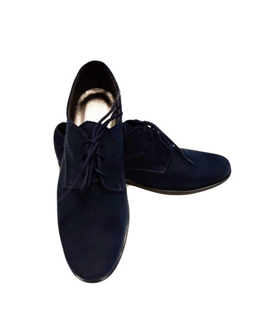 Navy blue suede shoes II