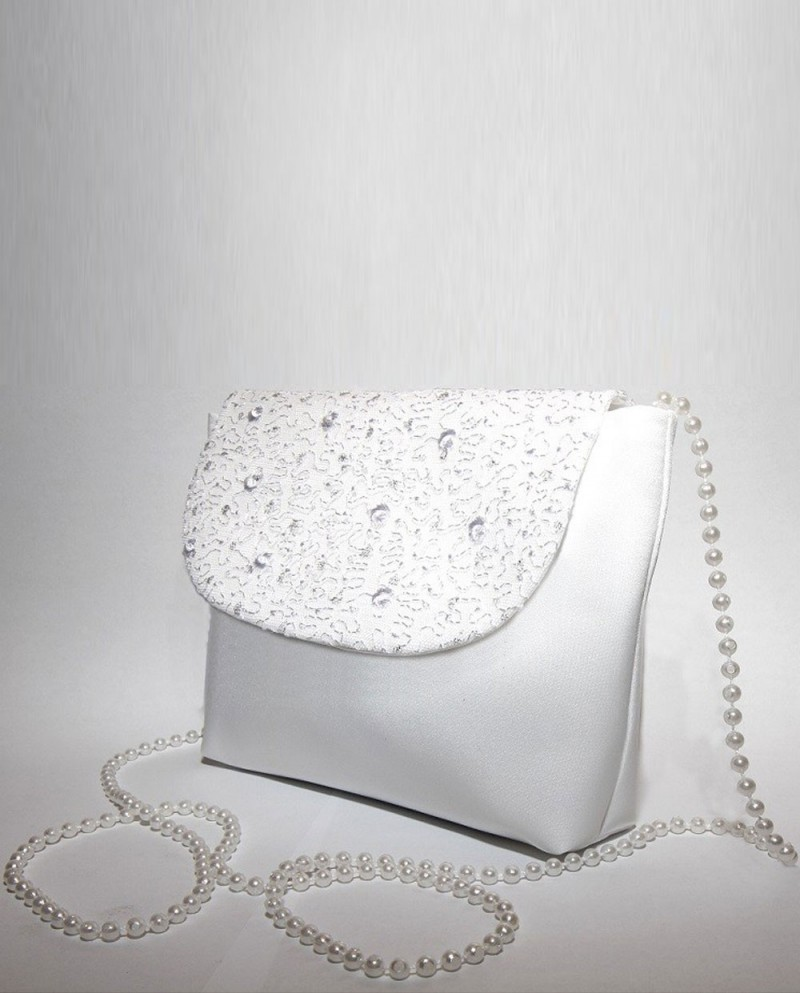 Purse White Rose